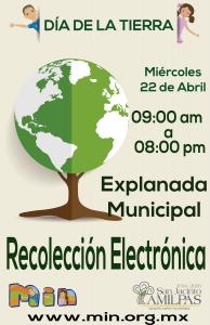 Dia Mundial de la tierra reciclaje electronico